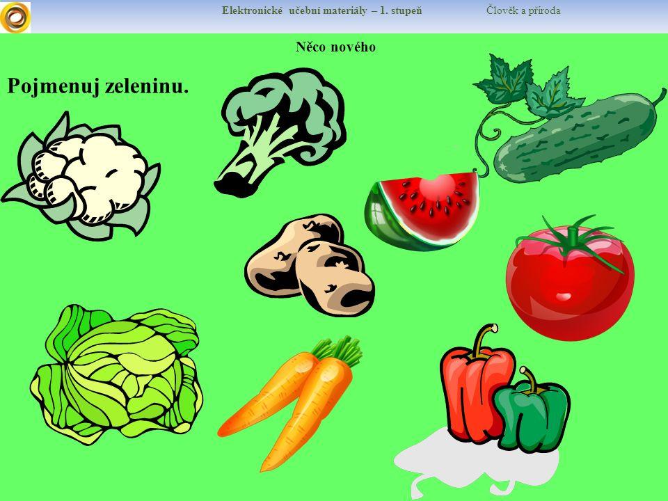 Elektronické učební materiály – 1. stupeň Člověk a příroda Něco nového Pojmenuj zeleninu.