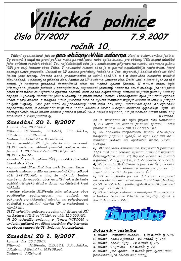 Vilická polnice číslo 07/2007 7.9.2007 ročník 10.