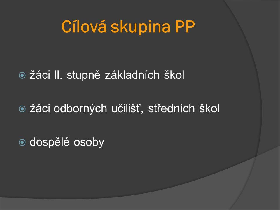 Cílová skupina PP  žáci II.