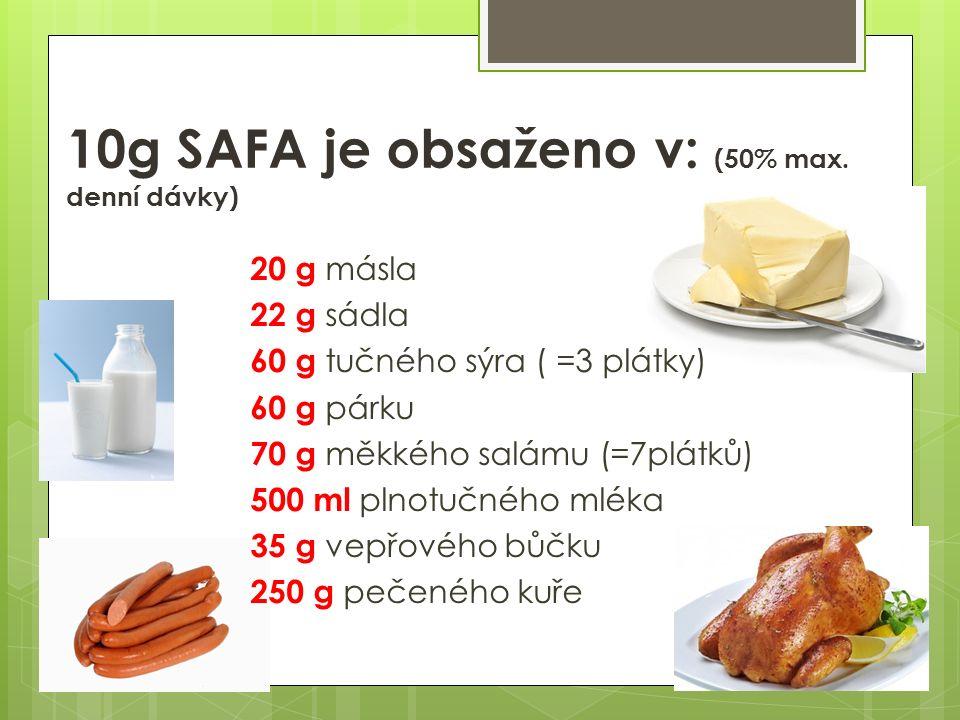 10g SAFA je obsaženo v: (50% max.