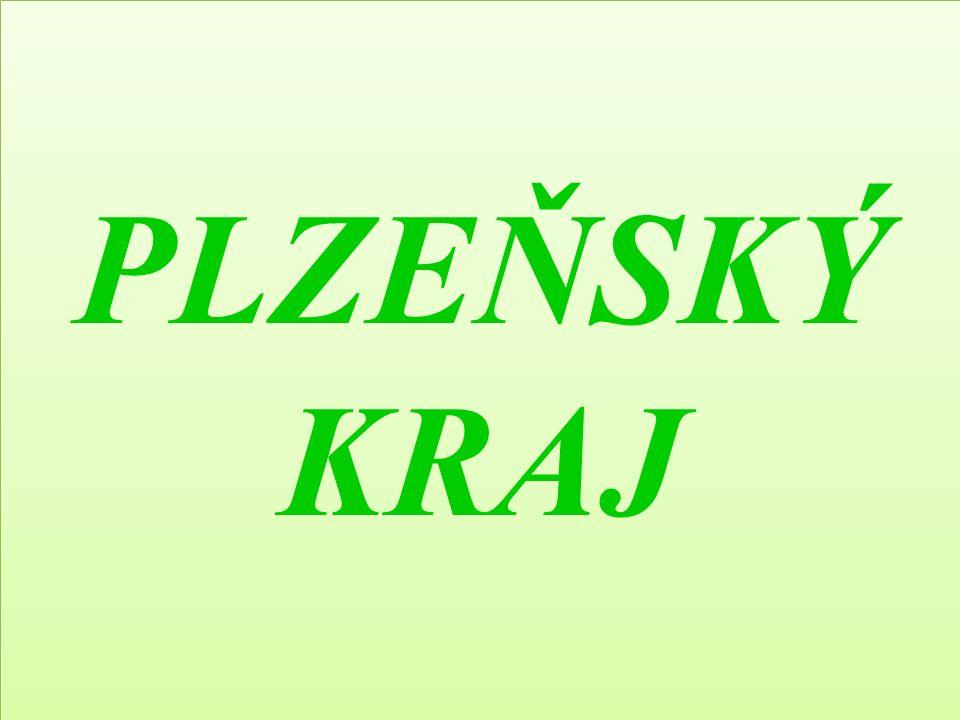 Plzeňský kraj leží na jihozápadě Čech krajské město: PlzeňPlzeň