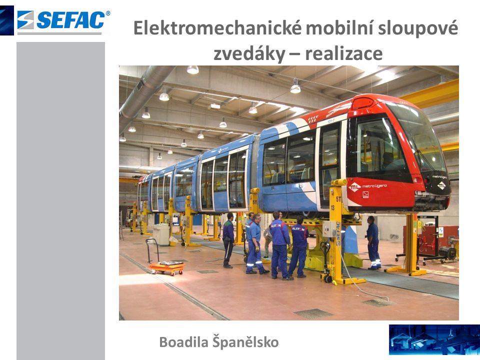 Elektromechanické mobilní sloupové zvedáky – realizace Boadila Španělsko