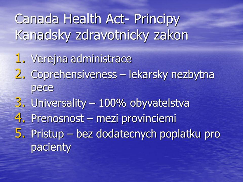 Canada Health Act- Principy Kanadsky zdravotnicky zakon 1.