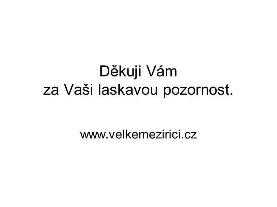 Děkuji Vám za Vaši laskavou pozornost. www.velkemezirici.cz