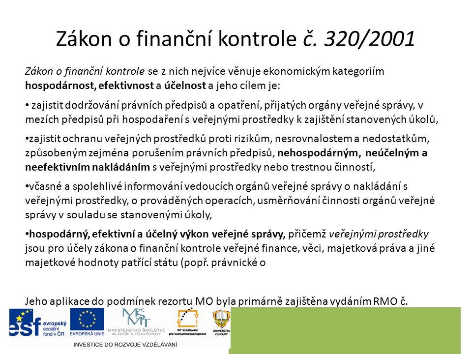 Zákon o finanční kontrole č.
