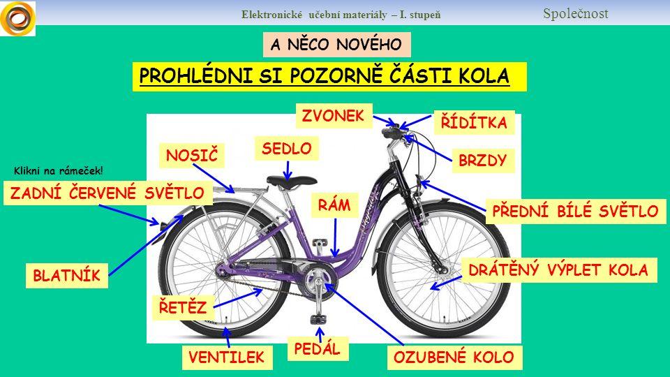 Elektronické učební materiály – I. stupeň Společnost VYZNAČ A POJMENUJ CYKLISTICKÉ POTŘEBY.