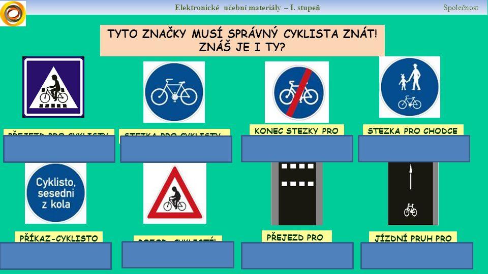 Elektronické učební materiály – I. stupeň Společnost DOKÁŽETE TO TEĎ SAMOSTATNĚ .
