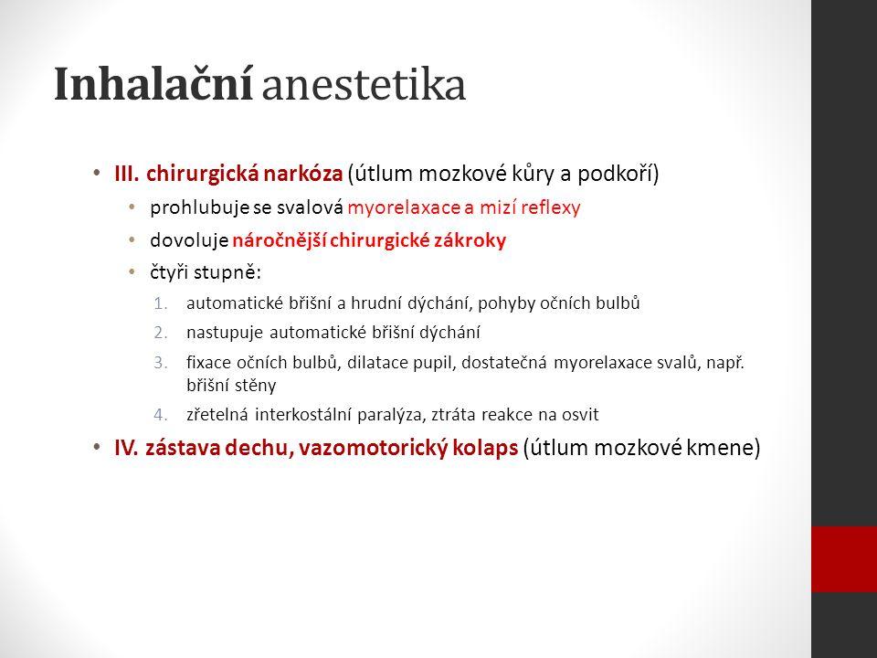 Inhalační anestetika III.