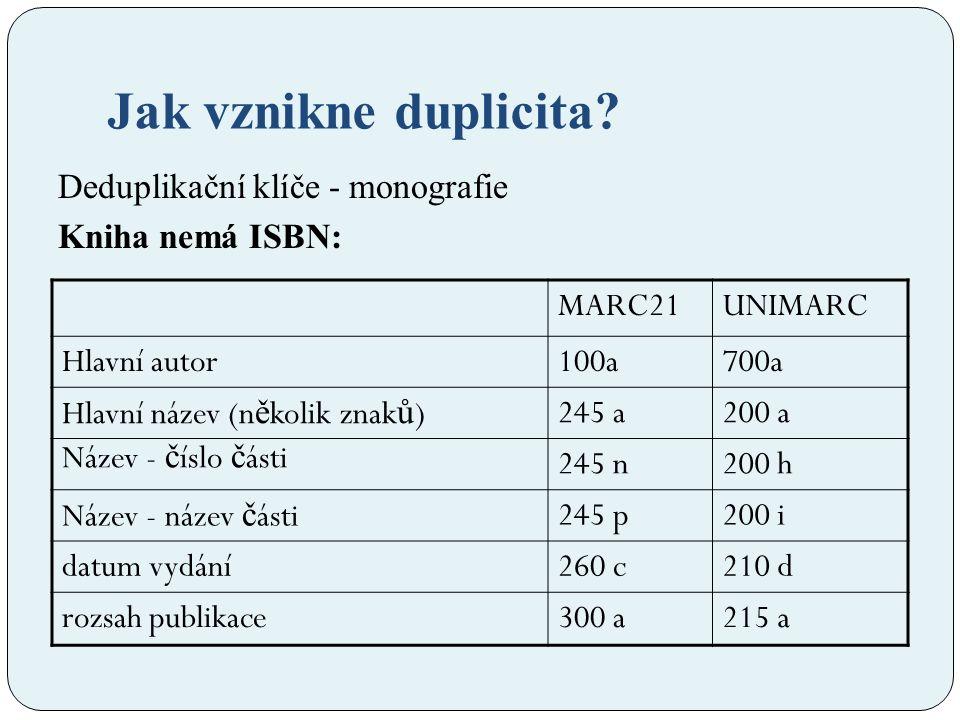 Co s tím může dělat SK ČR: 1.Deduplikační klíče 2.
