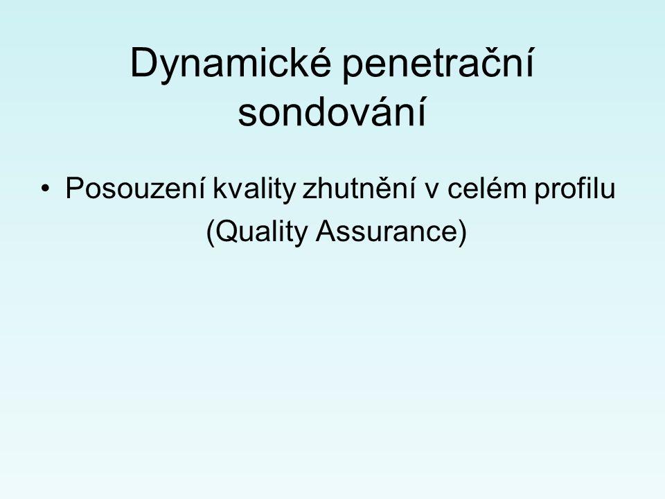 Dynamické penetrační sondování Posouzení kvality zhutnění v celém profilu (Quality Assurance)