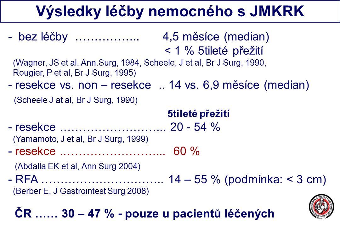 Výsledky léčby nemocného s JMKRK - bez léčby ……………..