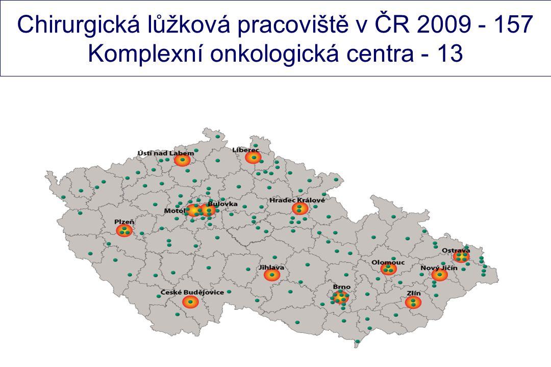 Chirurgická lůžková pracoviště v ČR 2009 - 157 Komplexní onkologická centra - 13