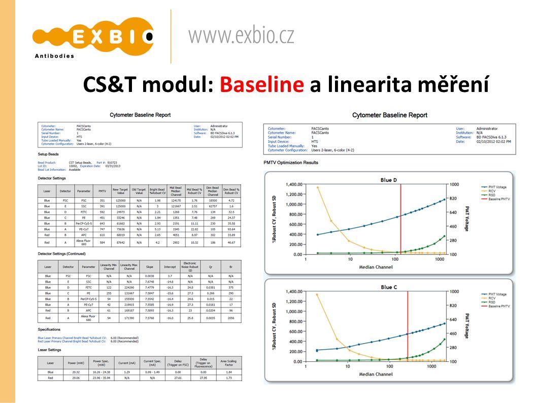 CS&T modul: Baseline a linearita měření