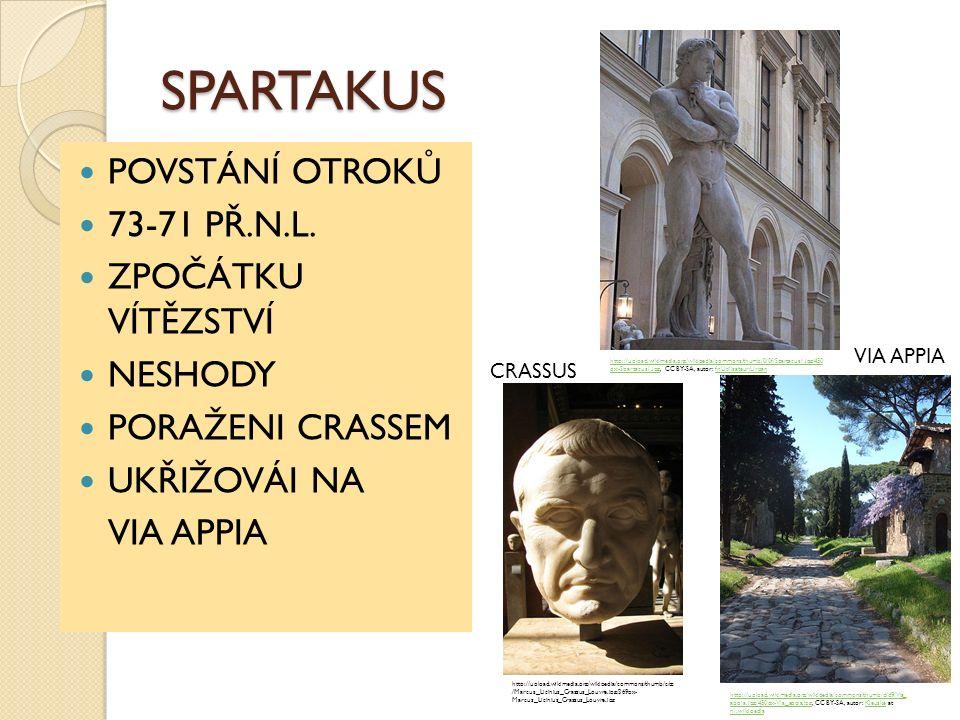 SPARTAKUS POVSTÁNÍ OTROKŮ 73-71 PŘ.N.L.