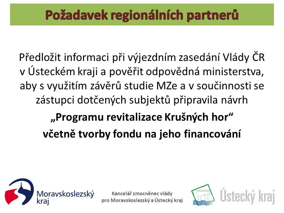Kancelář zmocněnec vlády pro Moravskoslezský a Ústecký kraj