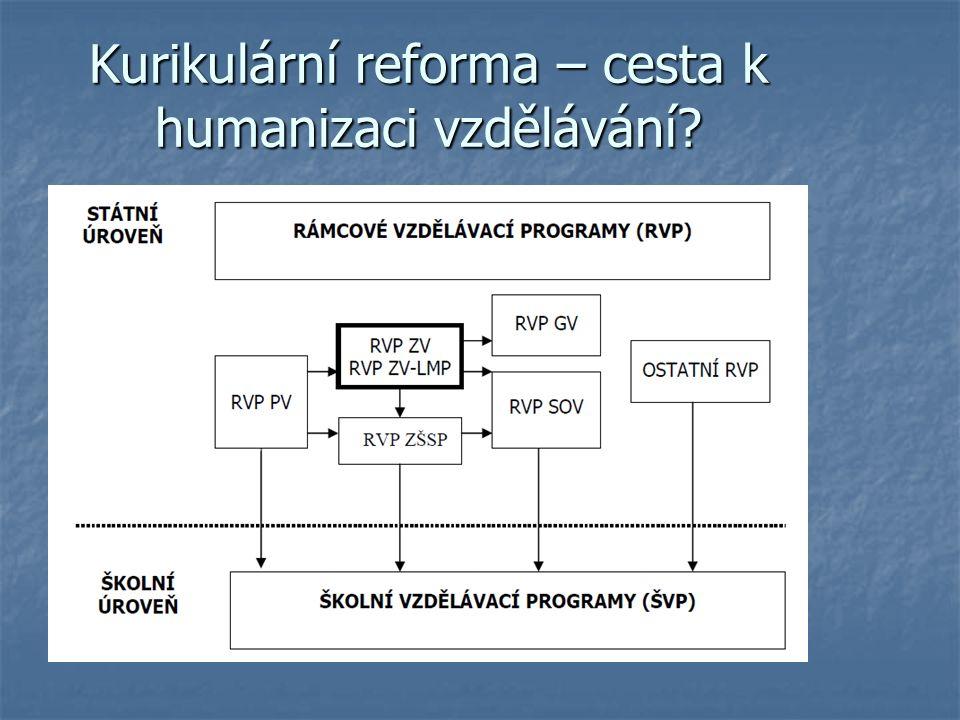 Kurikulární reforma – cesta k humanizaci vzdělávání?