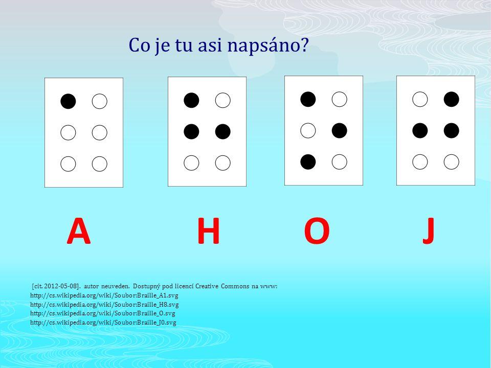 Braillovo písmo - speciální druh písma, které je určené pro nevidomé nebo velmi špatně vidící - jsou to vyražené plastické body, které čtenář vnímá hmatem - je pojmenováno podle Louise Brailla, který v dětství ztratil zrak a v patnácti letech vytvořil toto písmo 8.