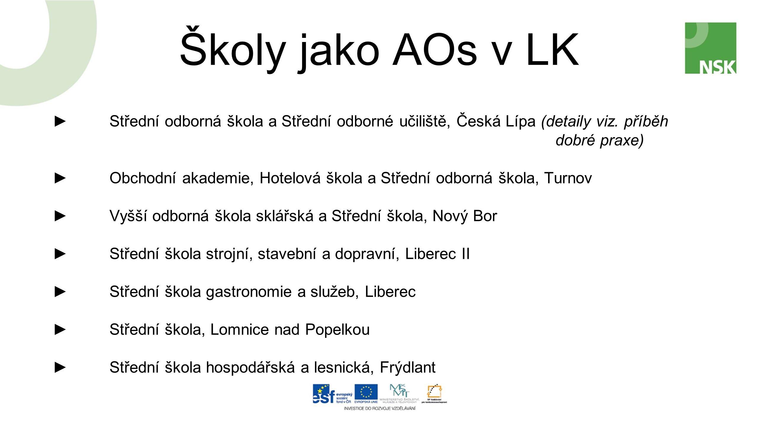 Školy jako AOs v LK ►Střední odborná škola a Střední odborné učiliště, Česká Lípa (detaily viz.