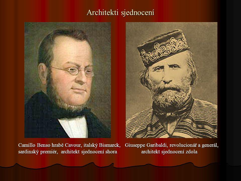 Pomocníci sjednocení Otto von Bismarck, pruský premiér Napoleon III., císař francouzský Otto von Bismarck, pruský premiér Napoleon III., císař francouzský pomohl v roce 1866 pomohl v roce 1859 pomohl v roce 1866 pomohl v roce 1859