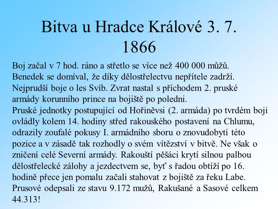Bitva u Hradce Králové 3. 7. 1866 Boj začal v 7 hod.