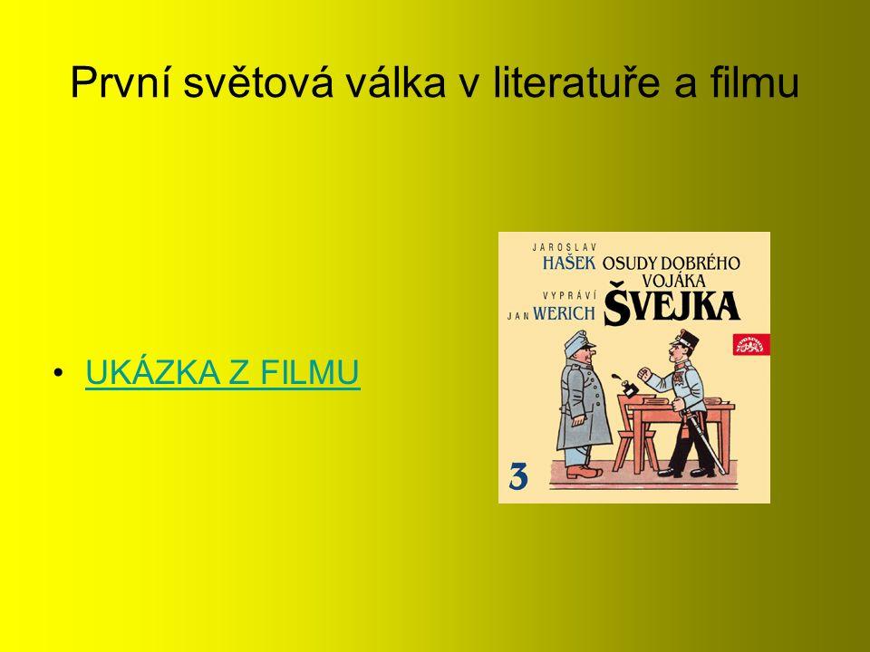 První světová válka v literatuře a filmu UKÁZKA Z FILMU
