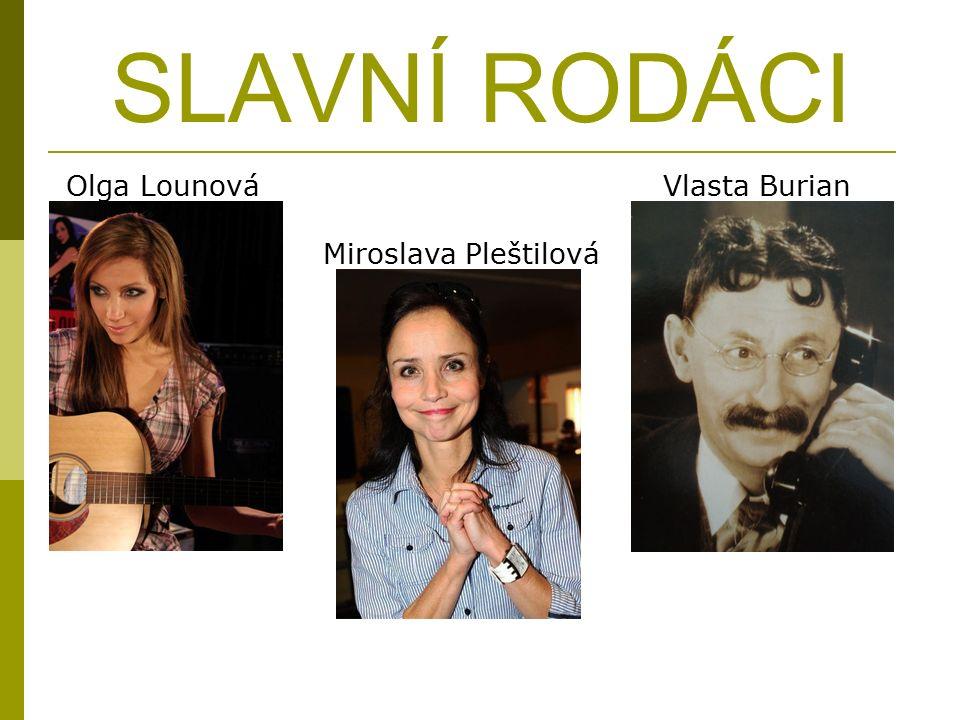 SLAVNÍ RODÁCI Olga Lounová Miroslava Pleštilová Vlasta Burian