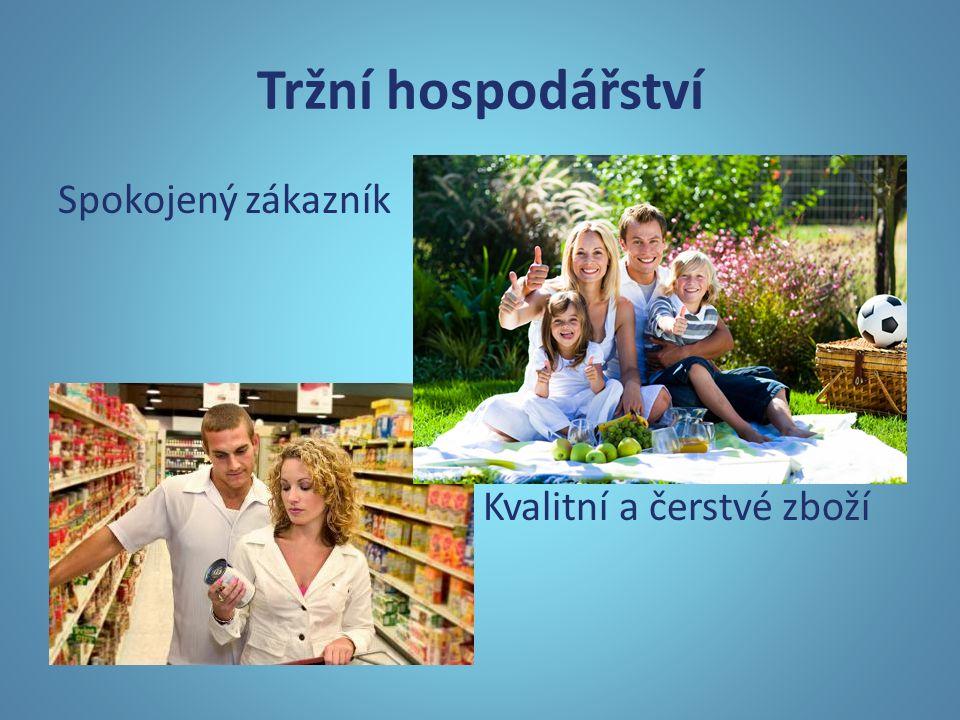 Tržní hospodářství Spokojený zákazník Kvalitní a čerstvé zboží
