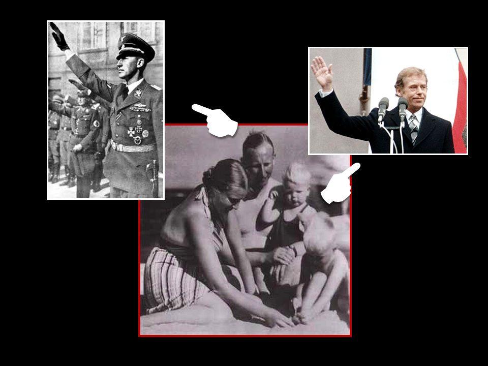 Reinhard Heydrich měl rodinu Havlových v oblibě, pravidelně chodíval do Lucerny na šampanské a při různých příležitostech se nechal fotografovat i s malým Václavem Havlem, naším budoucím prezidentem.