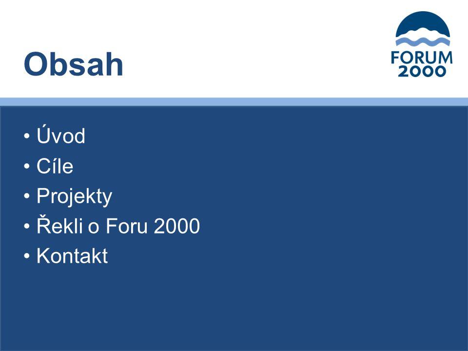 Nadaci Forum 2000 založil v roce 1996 prezident Václav Havel společně s japonským filantropem Yohei Sasakawou a nositelem Nobelovy ceny míru Elie Wieselem.