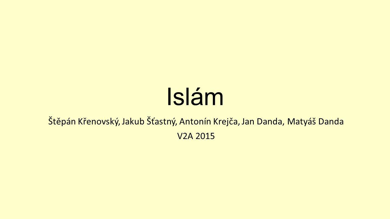 Obecné info Islám v překladu znamená odevzdání nebo mír V Islámu jsou 2 větve obyvatel : sunnité (90%), šíité (ti převládají třeba v Sýrii) Islám je nejmladší ze všech světových náboženství
