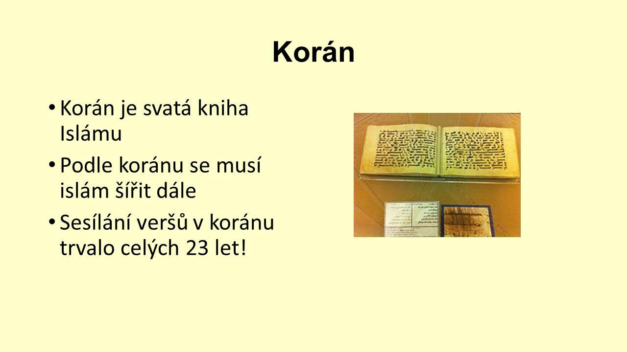 Kvíz Kdo je pohřbený v Medině.Kdo poslal Mohameda na proroctví.