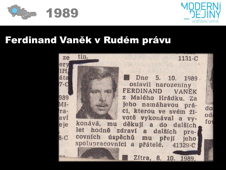 1989 Ferdinand Vaněk v Rudém právu