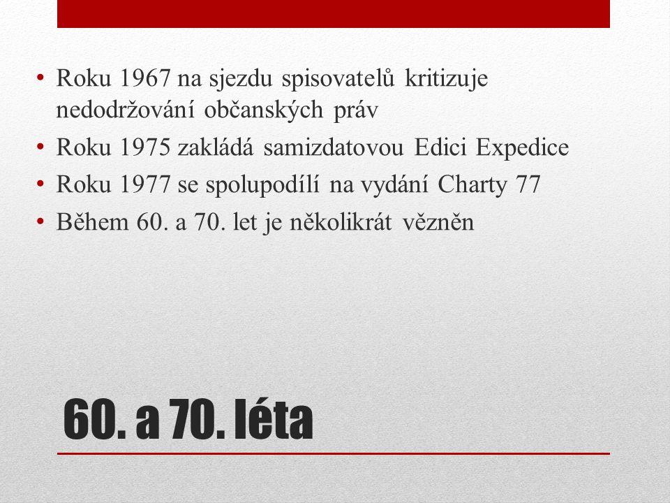 Sametová revoluce V listopadu vede jednání s komunistickou vládou Stojí u zrodu Občanského fóra V prosinci je zvolen prezidentem Československé socialistické republiky Od 29.