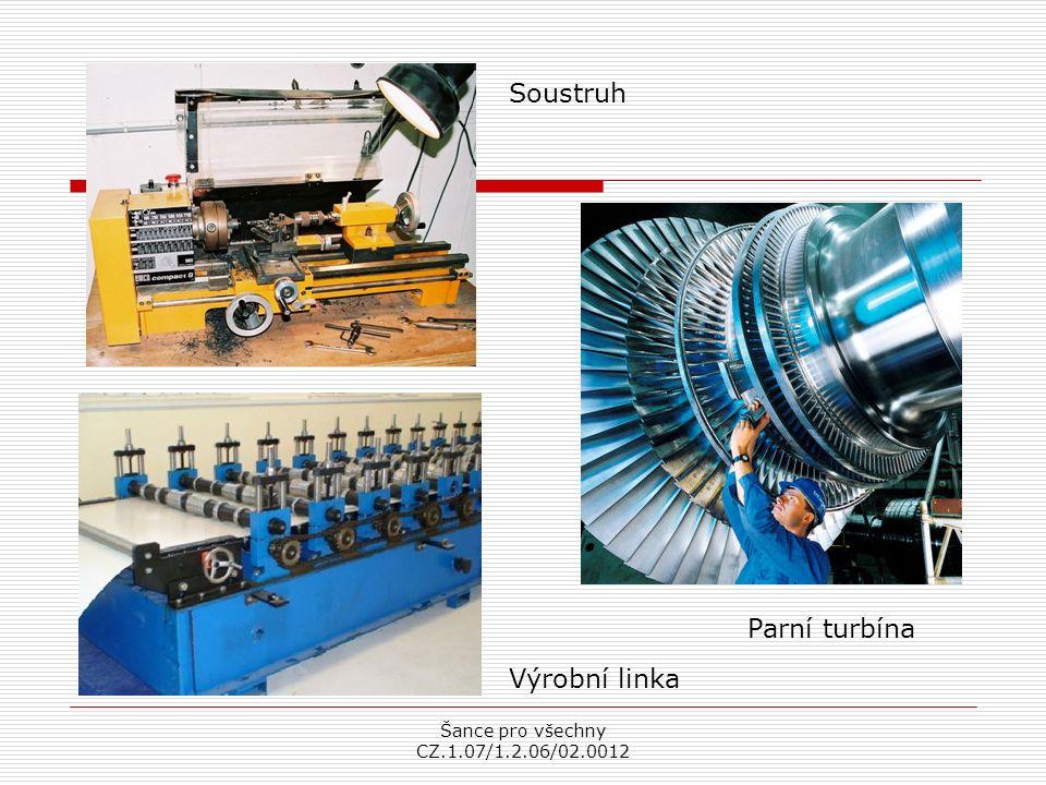 Šance pro všechny CZ.1.07/1.2.06/02.0012 Soustruh Parní turbína Výrobní linka