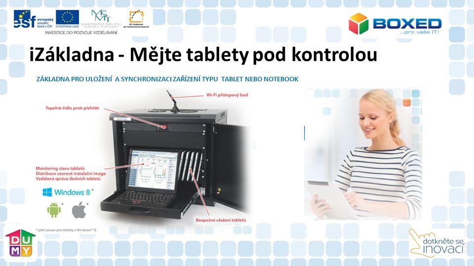 iZákladna - Mějte tablety pod kontrolou ZÁKLADNA PRO ULOŽENÍ A SYNCHRONIZACI ZAŘÍZENÍ TYPU TABLET NEBO NOTEBOOK