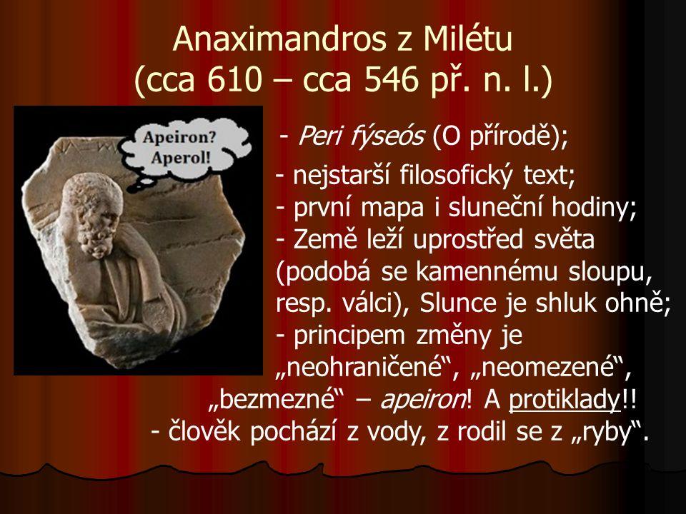 Anaximandros z Milétu (cca 610 – cca 546 př. n.