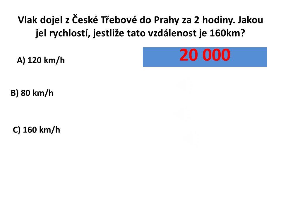 Vlak dojel z České Třebové do Prahy za 2 hodiny.