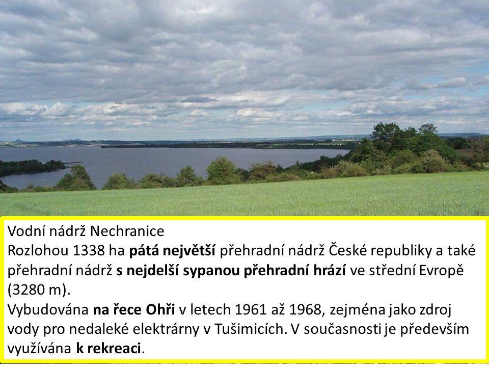 Labe u HřenskaSoutok Ohře a Labe u Litoměřic Pramen Ohře Bílina ve Stadicích Kamenice v Hřensku Labe u Lovosic Vodní nádrž Nechranice Rozlohou 1338 ha pátá největší přehradní nádrž České republiky a také přehradní nádrž s nejdelší sypanou přehradní hrází ve střední Evropě (3280 m).