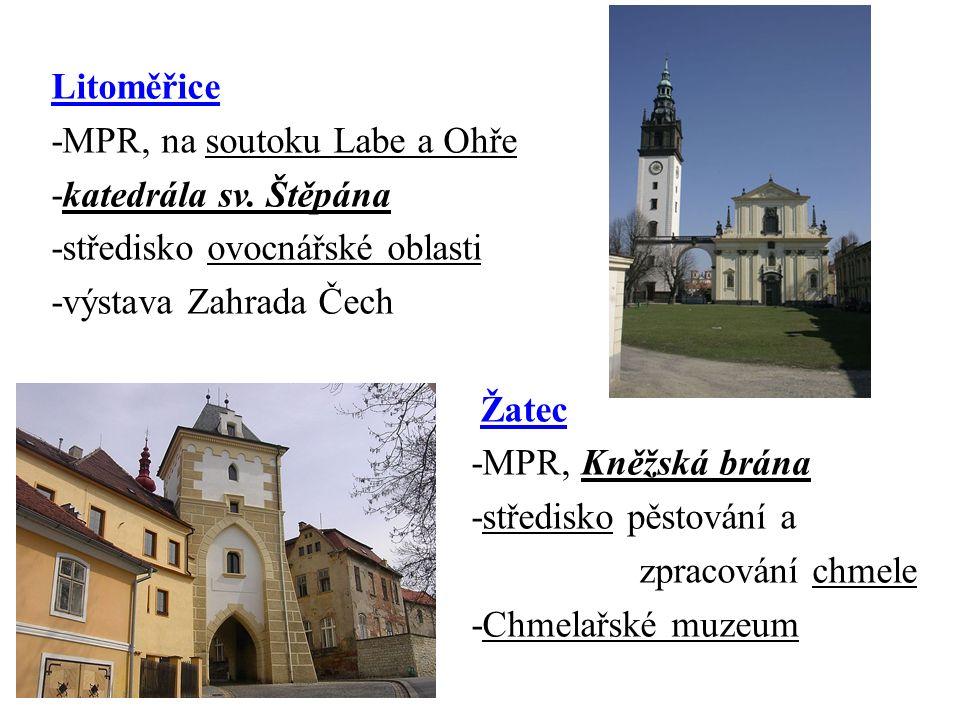 Litoměřice -MPR, na soutoku Labe a Ohře -katedrála sv.