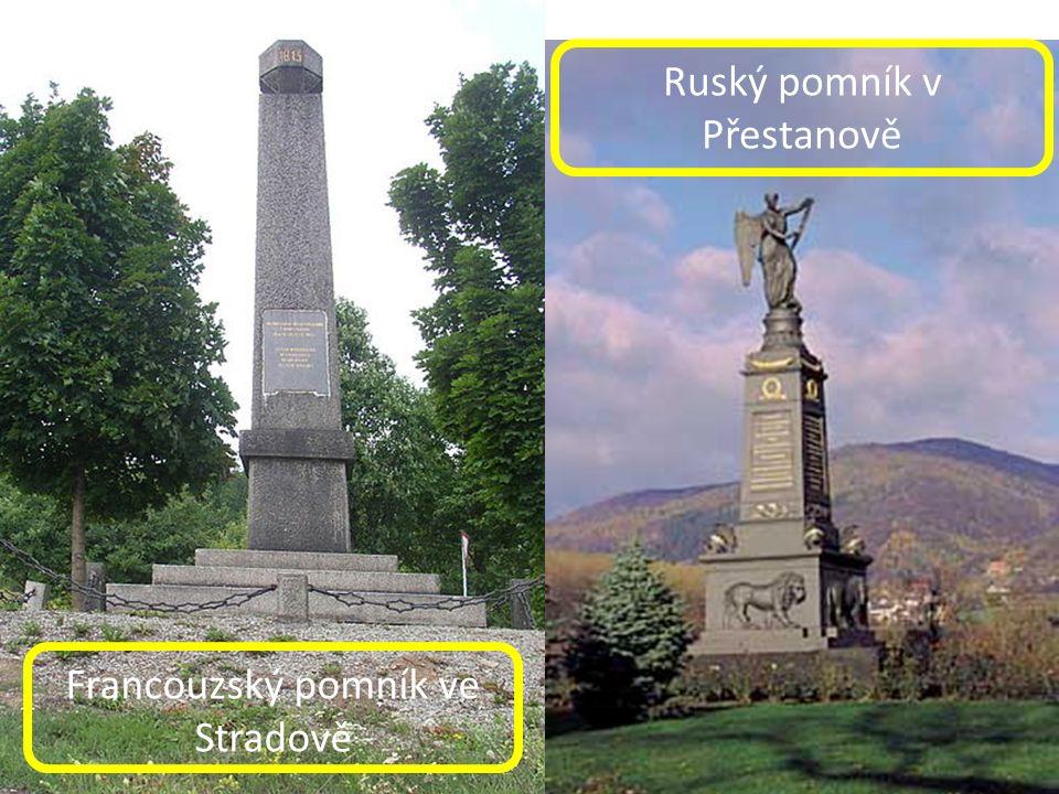 Francouzský pomník ve Stradově Ruský pomník v Přestanově