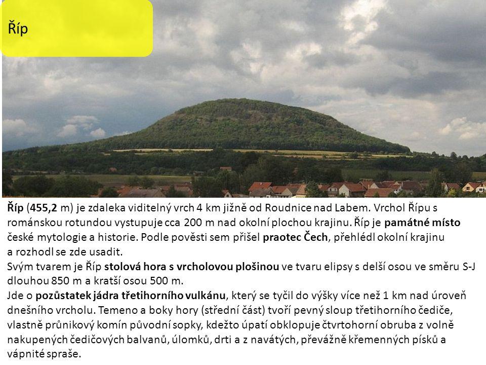Říp Říp (455,2 m) je zdaleka viditelný vrch 4 km jižně od Roudnice nad Labem.
