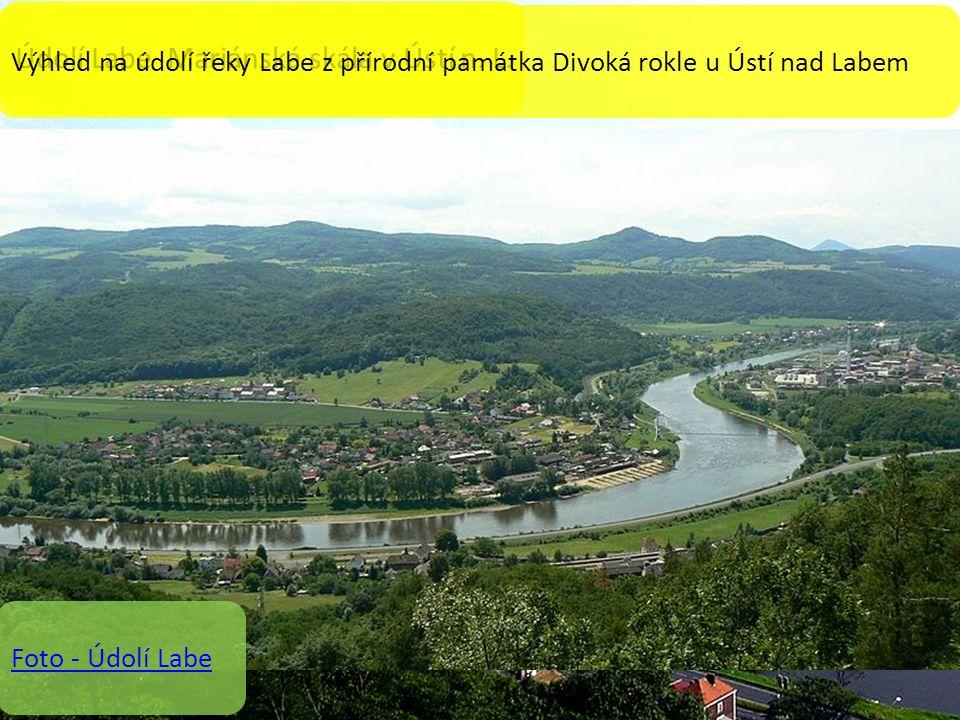 Údolí Labe u Děčína Údolí Labe Mariánská skála v Ústí n.