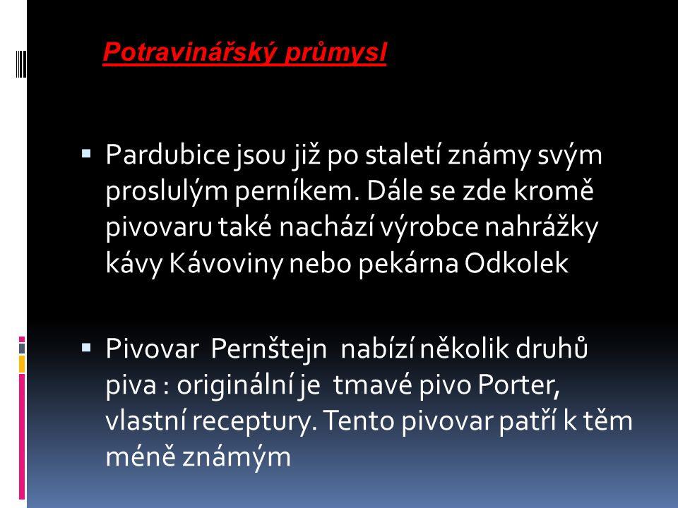  Pardubice jsou již po staletí známy svým proslulým perníkem.