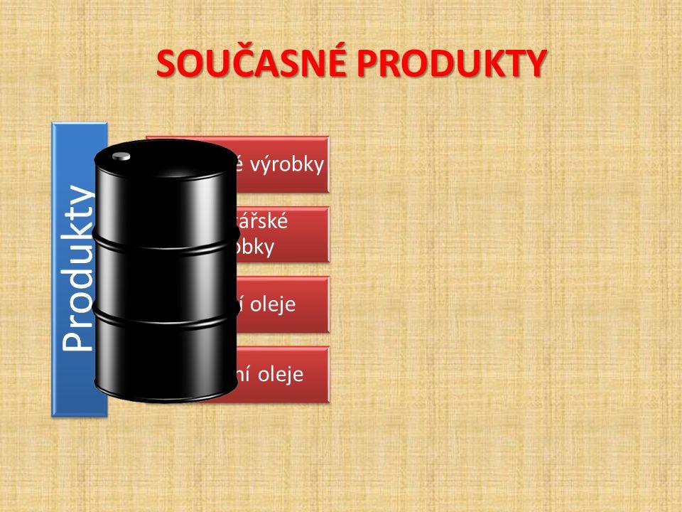 SOUČASNÉ PRODUKTY SOUČASNÉ PRODUKTY Produkty rafinérské výrobky asfaltářské výrobky mazací oleje procesní oleje