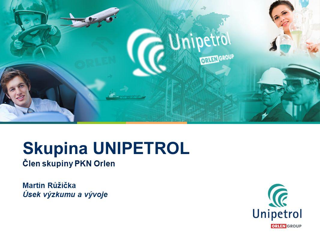 2 Skupina UNIPETROL Člen skupiny PKN Orlen Unipetrol je vedoucí skupinou v oblasti zpracování ropy a petrochemie v České republice a je jedním z hlavních hráčů ve střední a východní Evropě.