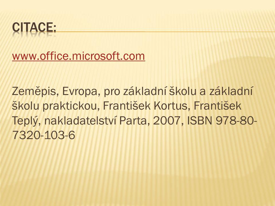 www.office.microsoft.com Zeměpis, Evropa, pro základní školu a základní školu praktickou, František Kortus, František Teplý, nakladatelství Parta, 200
