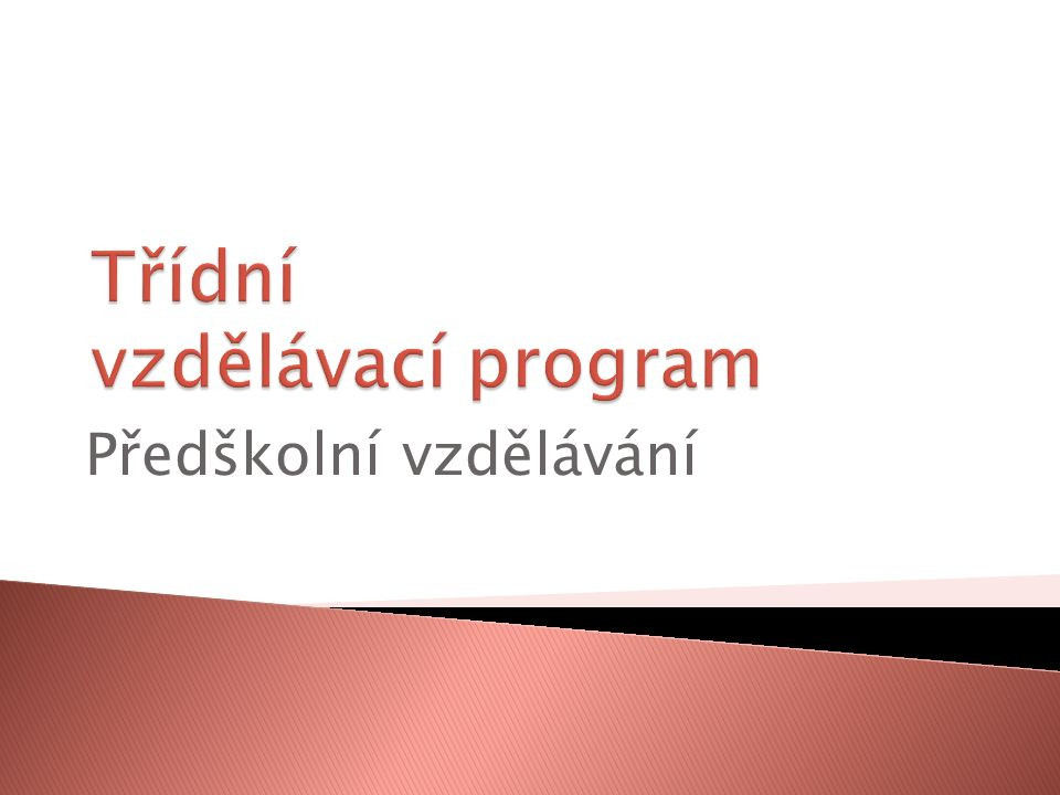  Rámcový vzdělávací program vymezuje hlavní požadavky, podmínky a pravidla.