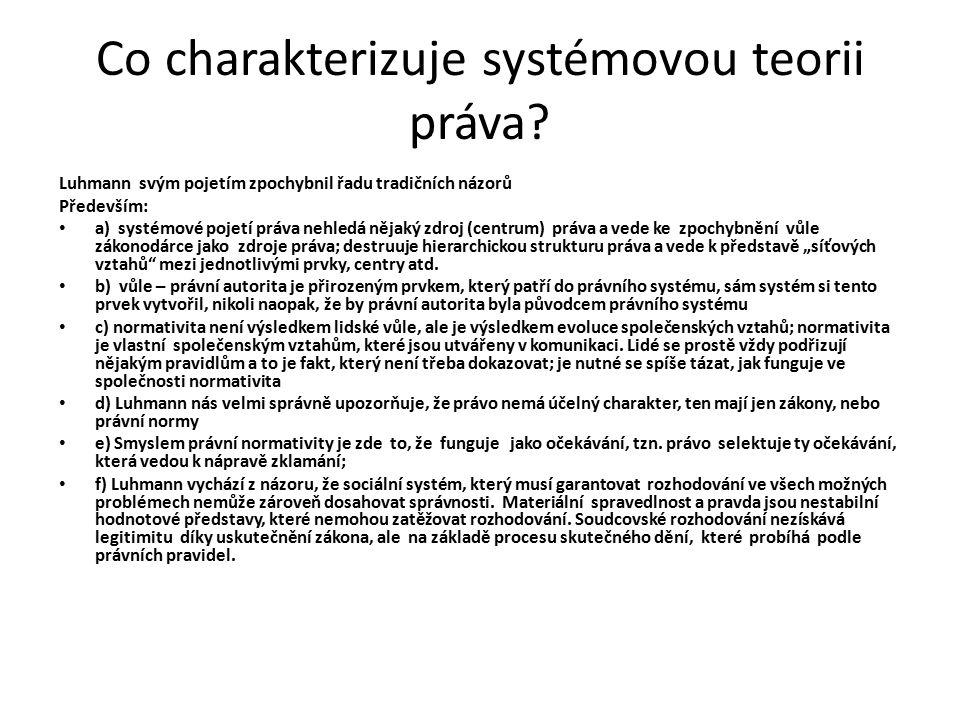 Co charakterizuje systémovou teorii práva.