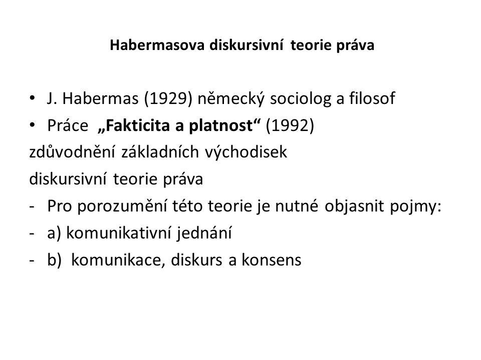 Habermasova diskursivní teorie práva J.