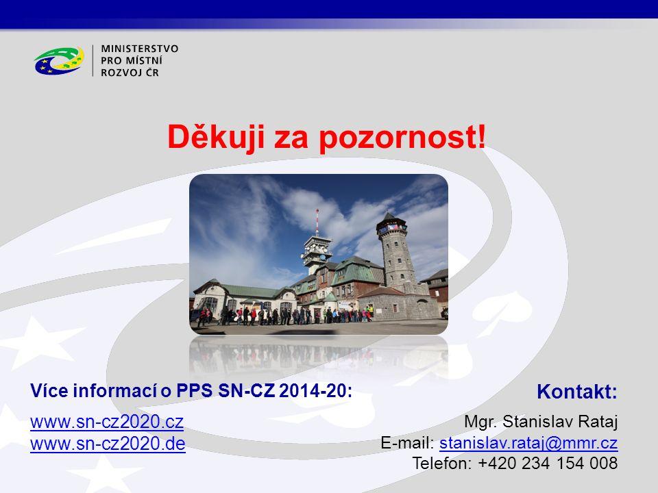 Děkuji za pozornost! Kontakt: Mgr. Stanislav Rataj E-mail: stanislav.rataj@mmr.czstanislav.rataj@mmr.cz Telefon: +420 234 154 008 Více informací o PPS